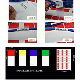 image of Cable Marker Label Sticker PP Material 27pcs (S301)