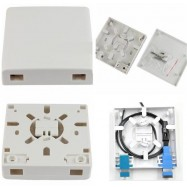 image of 2 Ports FTTH Fiber Optic Termination Box Panel Wall Outlet (S267)