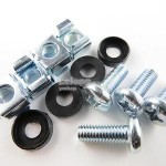 M6 Mounting Caged Nuts Screw For Sever Rack Wall Mount 100PCS (S272)