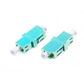 image of LC-LC OM3 MM Multimode Fiber Optic Joint Simplex Coupler Flange (S286)