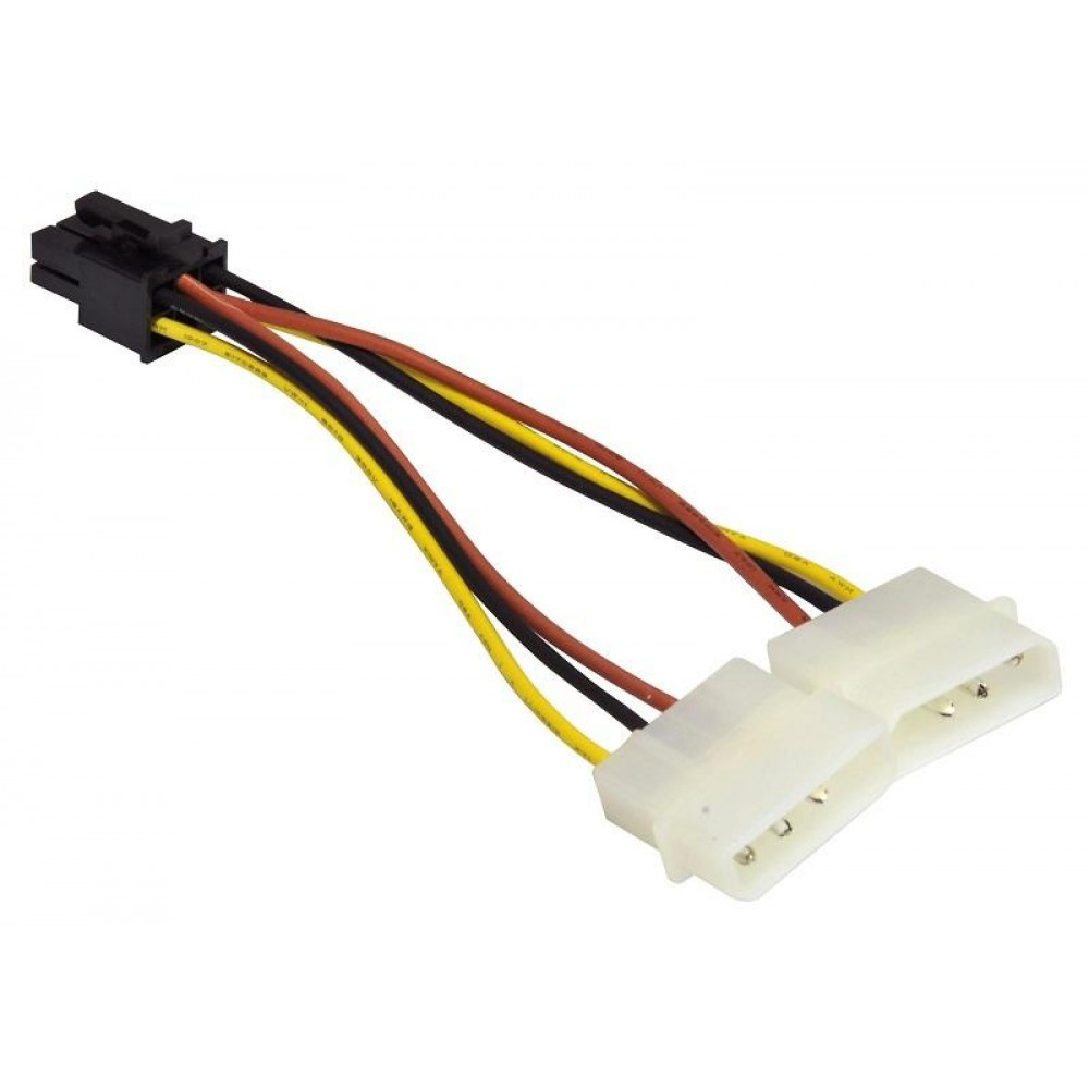 MOLEX 4 PIN (M) TO 6 PIN PCI-E POWER FOR GRAPHIC CARD (S296)