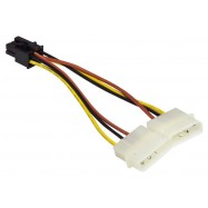 image of MOLEX 4 PIN (M) TO 6 PIN PCI-E POWER FOR GRAPHIC CARD (S296)