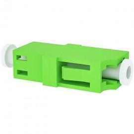 image of LC-LC APC MM Multimode Fiber Optic Joint Simplex Coupler Flange (S285)
