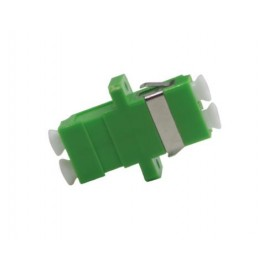 image of LC-LC APC MM Multimode Fiber Optic Joint Duplex Coupler Flange (S290)