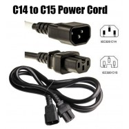 image of IEC C14 to IEC C15 1.0mm Power Cord 3 Meter (S312)