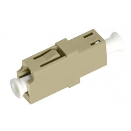 image of LC-LC MM Multimode Fiber Optic Joint Simplex Coupler Flange (S284)