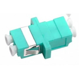 image of LC-LC OM3 MM Multimode Fiber Optic Joint Duplex Coupler Flange (S289)