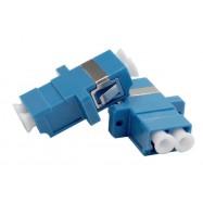 image of LC-LC SM Single mode Fiber Optic Joint Duplex Coupler Flange (S288)