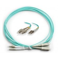 image of LC-SC 50/125 10GIG OM3 Multimode Fiber Patch Cable 10 Meter (S277)