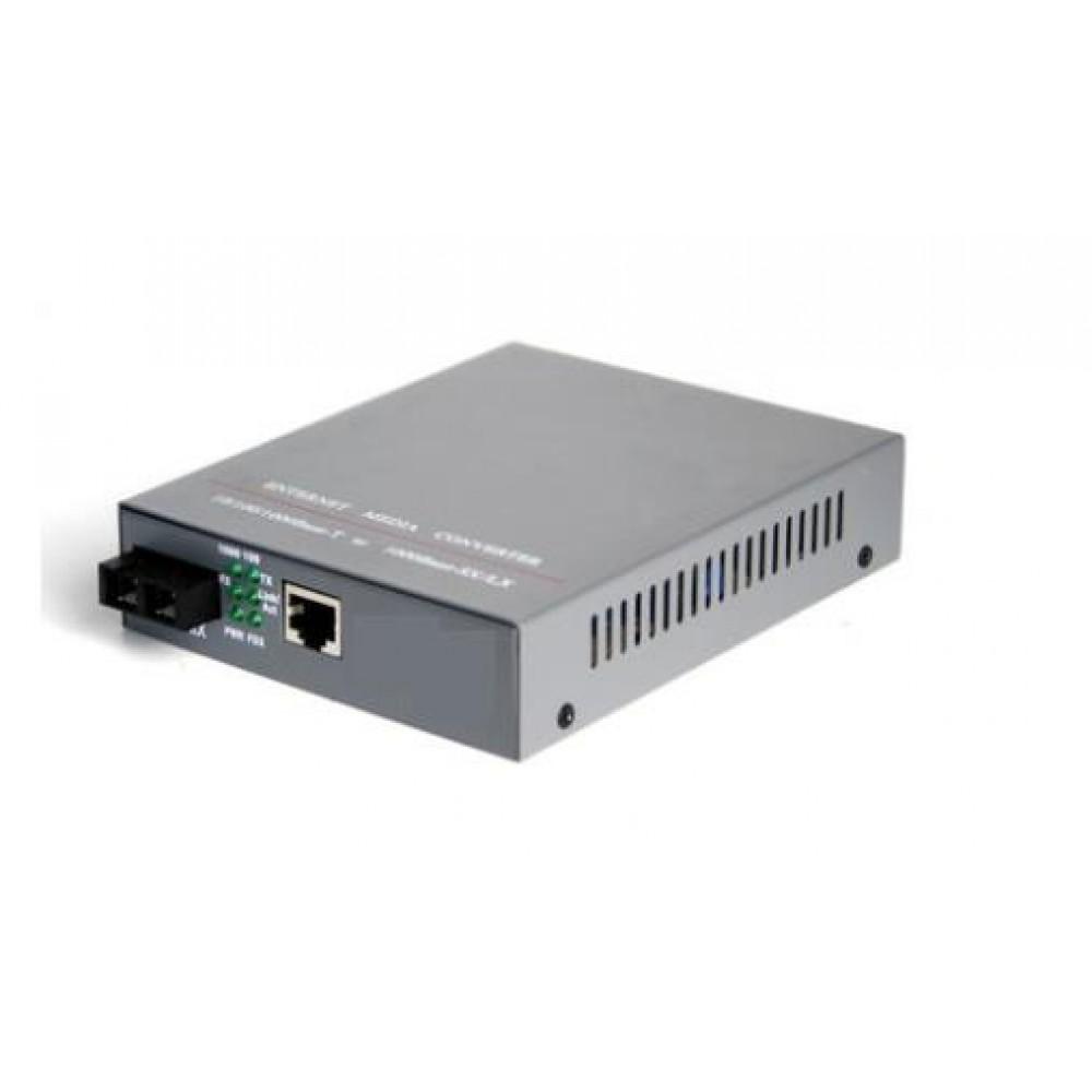 Single Mode Fiber to UTP Gigabit Media Converter 220V 20KM (S309)