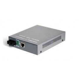 image of Single Mode Fiber to UTP Gigabit Media Converter 220V 20KM (S309)