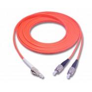 image of LC-FC Multimode MM Duplex Fiber Optic 50/125um 5 meter (S346)