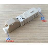 image of SC to LC MM SC/ UPC 62.5/125 Multimode HYBRID Fiber ADAPTER (S314)