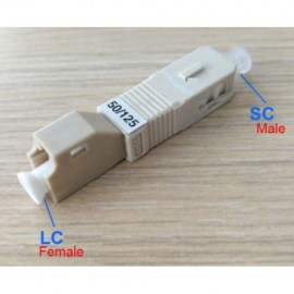 image of SC to LC MM SC/ UPC 50/125 Multimode HYBRID Fiber ADAPTER (S313)
