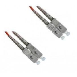 image of SC-SC MultiMode MM Duplex Fiber Optic 50/125um 3 Meter (S318)