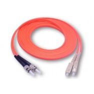 image of SC-ST MULTIMODE MM DUPLEX 50/125 FIBER OPTIC CABLE 3 METER (S328)