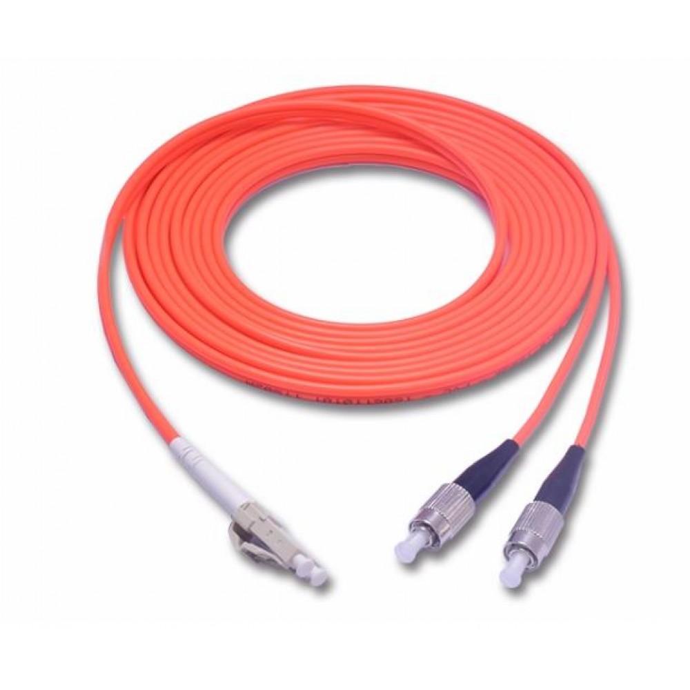 LC-FC MultiMode MM Duplex Fiber Optic 50/125um 10 meter (S347)