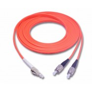image of LC-FC MultiMode MM Duplex Fiber Optic 50/125um 10 meter (S347)