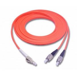 image of LC-FC MultiMode MM Duplex Fiber Optic 50/125um 10 meter (S347)