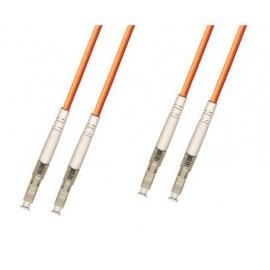 image of LC-LC 50/125 MM Multimode Duplex Fiber Optic Patch 10Meter (S336)