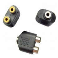 image of Audio Adapter 3.5mm Female Split to 2x RCA Female (S368)