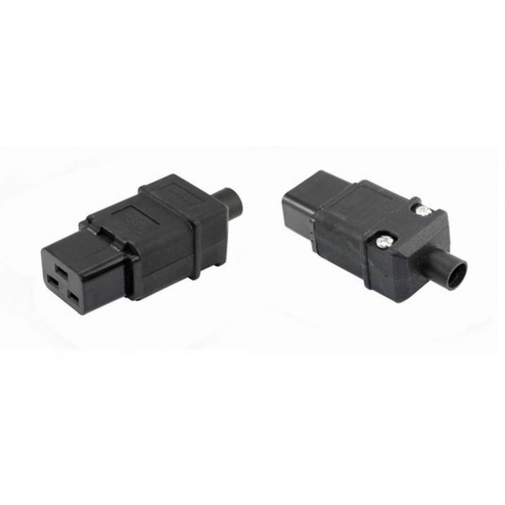 IEC-320-C19 AC Cable Mount Rewireable connector female Plug (S367)