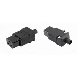 image of IEC-320-C19 AC Cable Mount Rewireable connector female Plug (S367)