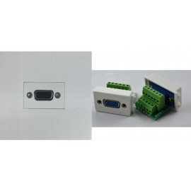 image of VGA FACE PLATE 3+6 WALL PLATE FACE PLATE (S388)