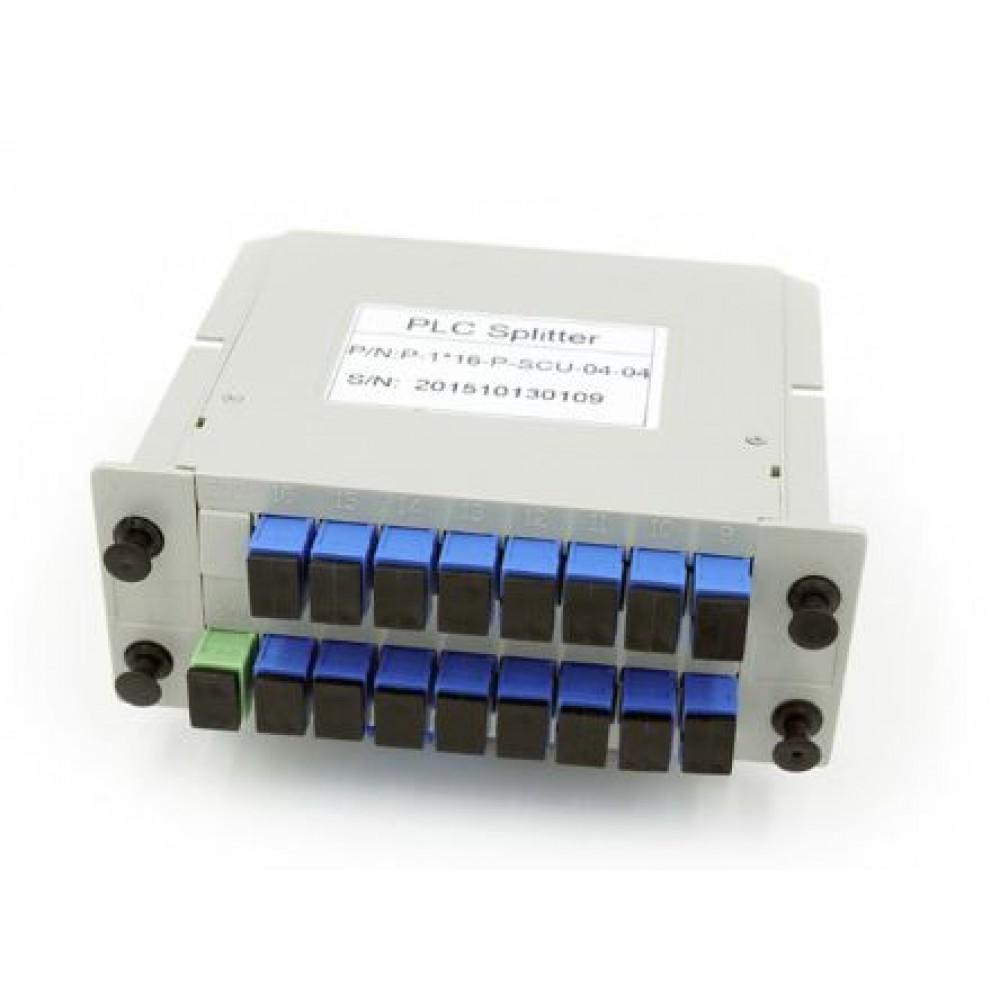 FTTH FiberOptic PLC Splitter 1x16 SC Fiber Optical Branching Box(S387)