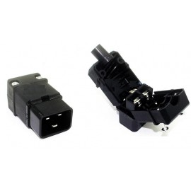 image of IEC-320-C20 AC Cable Mount Rewireable Connector Male Plug (S371)
