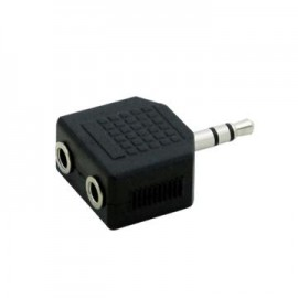image of AUDIO 3.5MM (M) TO 2-PORT 3.5MM (F) SPLITTER (S365)
