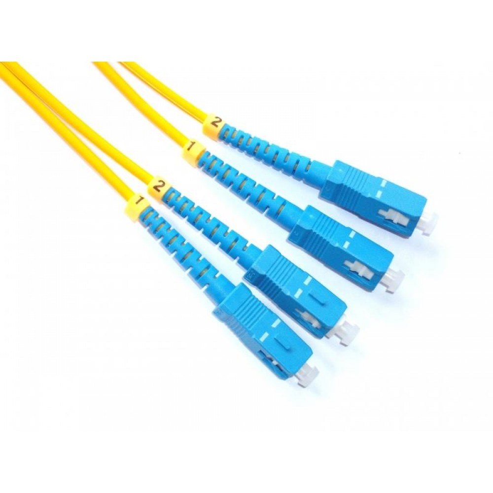 SC-SC Single Mode Duplex 9/125 Fiber Cable 5Meter (S375)