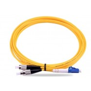 image of LC-FC 9/125 Single Mode Duplex Fiber Cable 15 Meter (S357)