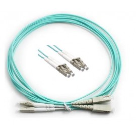 image of LC-LC 50/125 10GIG OM3 Multimode Duplex Fiber Cable 1Meter (S411)