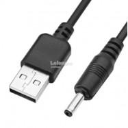 image of USB to DC 3.5* 1.3mm Male Barrel Jack 5V DC Power Plug 1M (S400)