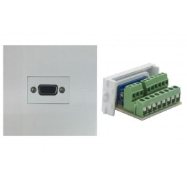 image of VGA FACE PLATE 3+9 WALL PLATE FACE PLATE (S389)