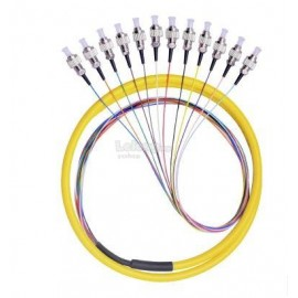 image of Single Mode FC 12 Core Pigtail 1.2 Meter Fiber Cable (S394)