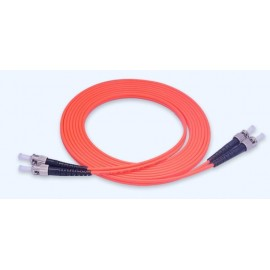 image of ST-ST MULTIMODE MM DUPLEX 50/ 125 FIBER OPTIC CABLE 5 METER (S399)