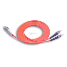 image of LC-ST 50/125 Multimode Duplex Fiber Patch Cable 3 Meter (S409)