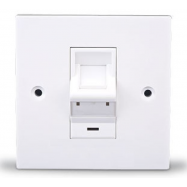 image of RJ45 1GANG DEGREE FACE PLATE WALL PLATE (S393)