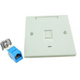 image of CAT6 Single Face plate with Keystone Jack SET (S392)