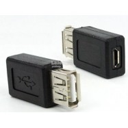 image of USB A 2.0 Female to Micro USB B Female Adapter Connector Phone (S397)