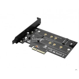 image of Kingshare NVMe M.2 NGFF SSD to PCI-E 3.0 x4 M Key + B Key (S402)