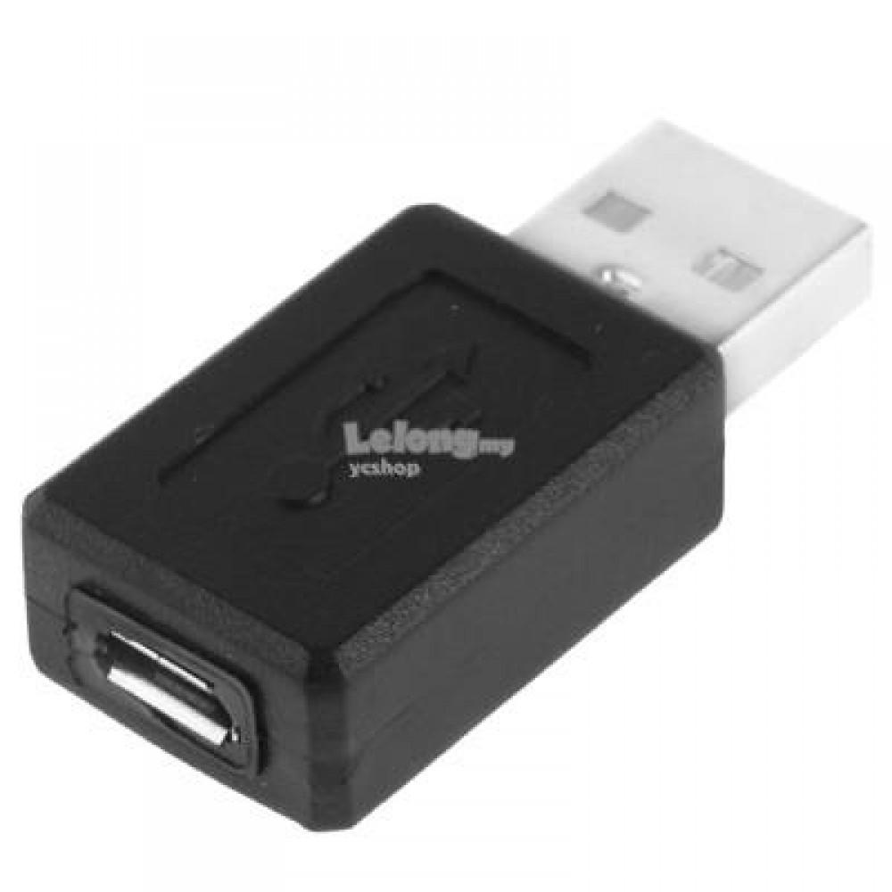 USB 2.0 AM to Micro USB Female Adapter Black (S396)