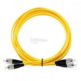 image of FC-ST SM Single Mode Duplex Fiber Optic Cable 9/125 3 Meter (S417)