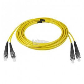 image of FC-FC Single Mode Duplex 9/125 Fiber Optic Cable 10 meter (S459)
