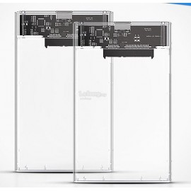 "image of kingshare 2.5"" Transparent Type C Hard Drive Enclosure (S443)"