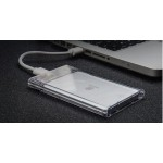 "kingshare 2.5"" Transparent Type C Hard Drive Enclosure (S443)"