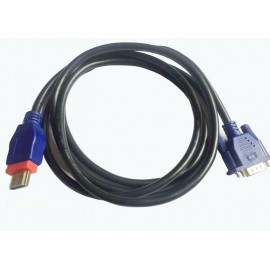 image of HDMI TO VGA WITH CHIPSET FULL HD 1080P 3METER CABLE (S458)