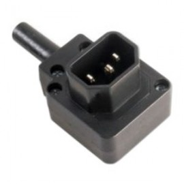 image of IEC C14 Male Socket Connector re-wireable Down angle (S447)